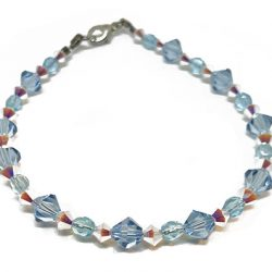 Blue and White Swarovski Bracelet