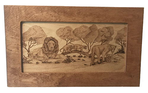 The Lion Pride Wood-Burning