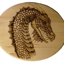 Dragon Portrait Pyrography