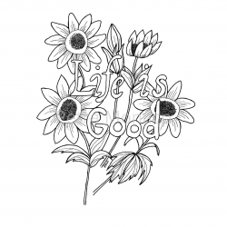 Life is Good Coloring page