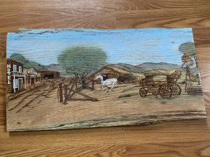 Pyrography and Paint