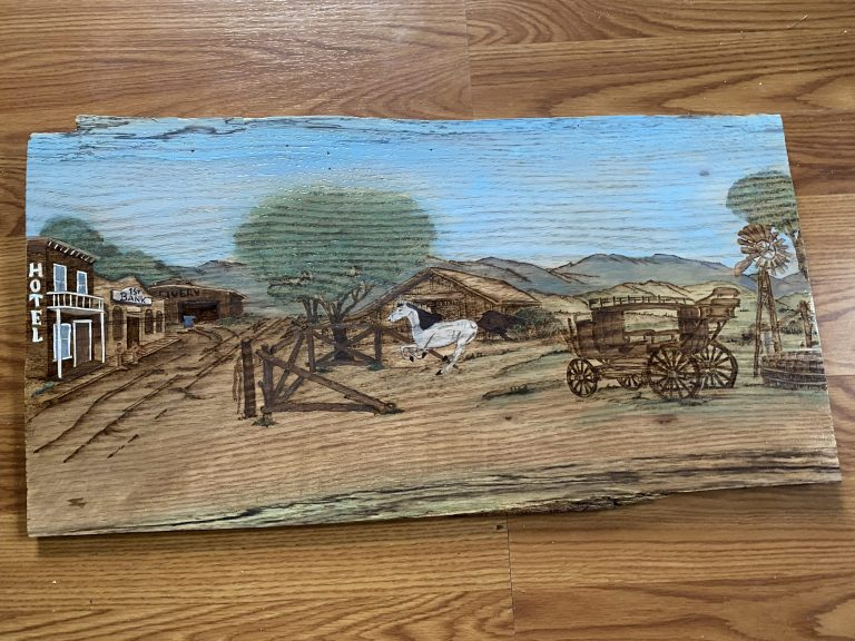 Experimenting with Pyrography and Paint