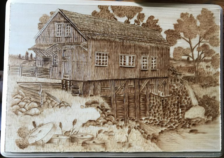 Watermill Pyrography