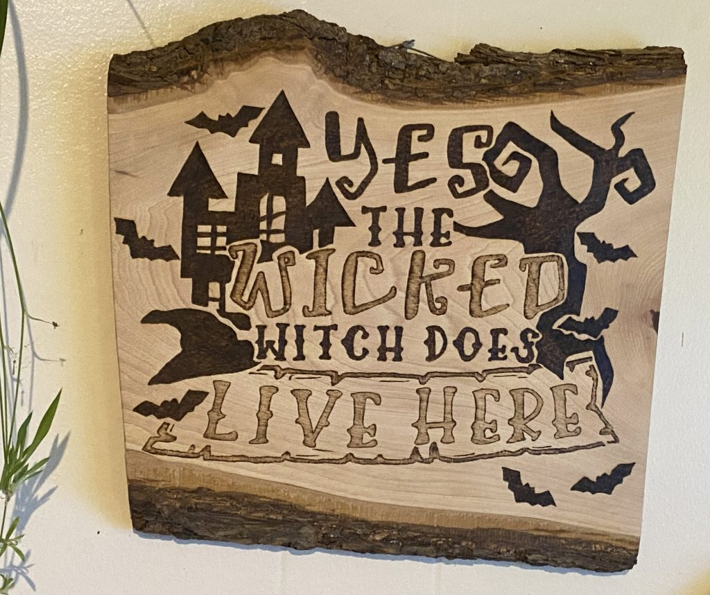 Wicked Witch Halloween Wall Decor